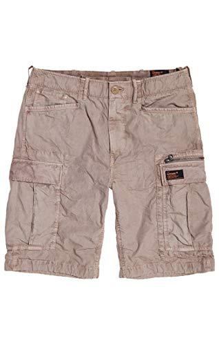 Superdry Herren Parachute Cargo Shorts, Beige (Sand Ripstop P2c), Gr. 32