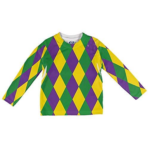 Mardi Gras Jester Kostüm Alle über Säuglings Lange Ärmel T Shirt Multi 18-24 M