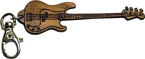 Fender Precision Bass inciso in Vera Pelle - Portachiavi Chitarra - Etabeta Artigiano Toscano - Made in Italy - Inciso Portachiavi