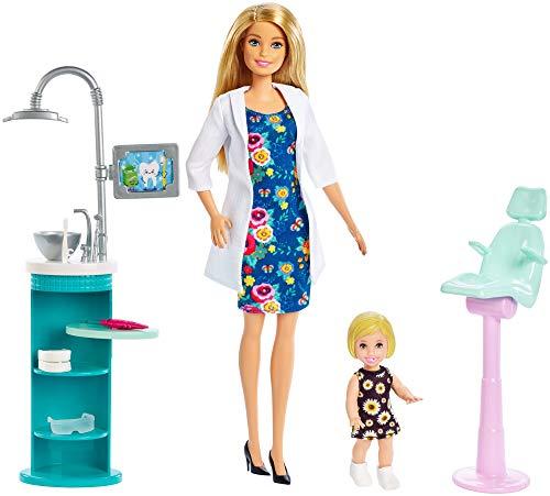 Barbie Quiero Ser Dentista Muñeca con Muñeca Bebé y Accesorios (Mattel FXP16)