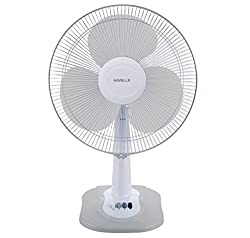 Havells Swing ZX 400mm Table Fan (Light Grey)