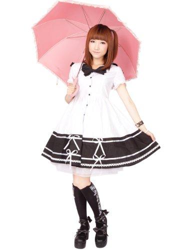Antaina Weiß Baumwolle Flieges Sailor Ausschnitt süß Schüler -