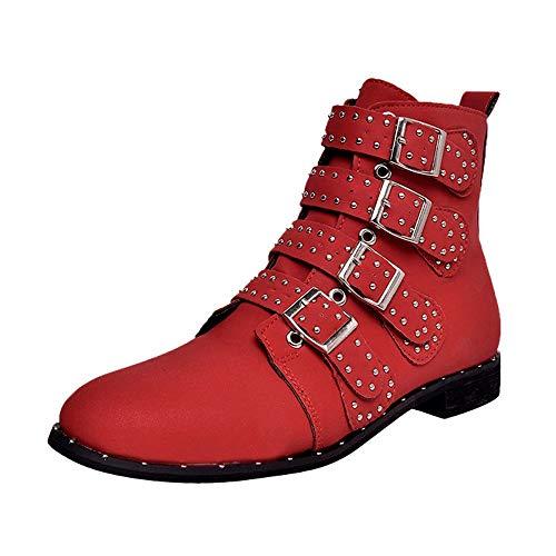 Xinantime Zapatos Mujer Piel Sintética Ante Hebilla