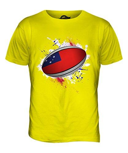 CandyMix Samoa Palla Da Rugby T-Shirt da Uomo Maglietta Giallo Limone