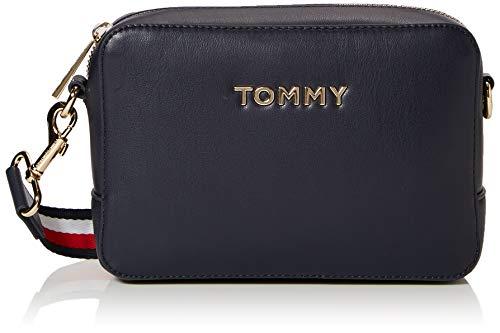 Tommy Hilfiger Damen Iconic Tommy Crossover Umhängetasche, Blau (Sky Captain), 13x19x5cm