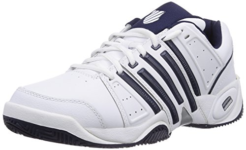 K-Swiss Performance KS TFW ACCOMPLISH LTR-WHITE/NAVY/SILVER-M, Herren Tennisschuhe, Weiß (White/Navy/Silver), 42 EU (8 Herren UK)