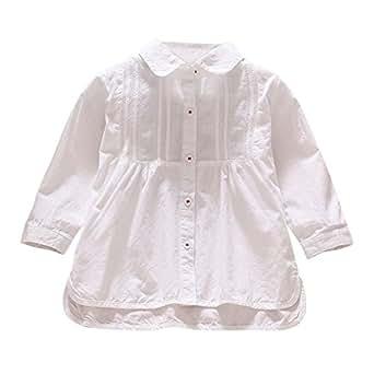 f6d4e53e2a9c Brightup Baby Girls Cotton Long Sleeve T Shirt Ruffle Blouse Tops ...