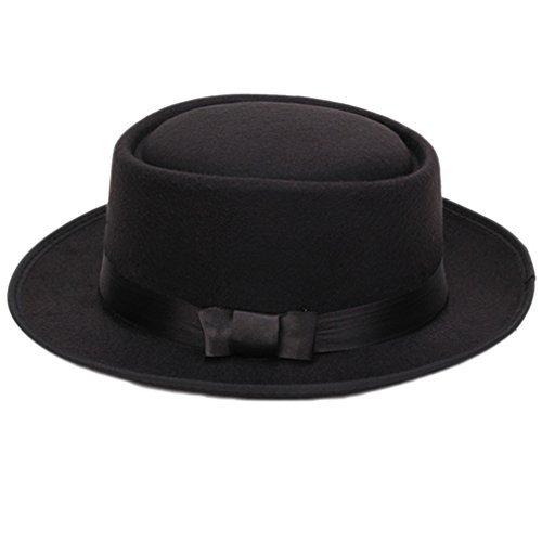 Oxforder Damen Herren Cool Klassiker Jazz Hut Fedora Trilby Hut Blower Hüte mit Bowknot