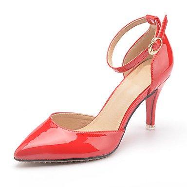 Da donna-Tacchi-Ufficio e lavoro / Formale / CasualA stiletto-Vernice-Nero / Rosso / Bianco / Fucsia / Carne Red