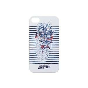 Jean Paul Gaultier JP259732 Coque pour iPhone 5/5S Tatoo Blanc/Bleu