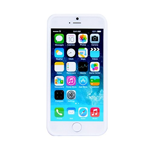Wkae Case & Cover texture modulaire silicone cas pour iphone 6 plus &6s et ( Color : White ) Blanc