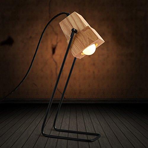 ZXW Moderne Schlafzimmer Kreative Mode Studenten Studie Schreibtischlampe Holz Logs Literarische Cafe -