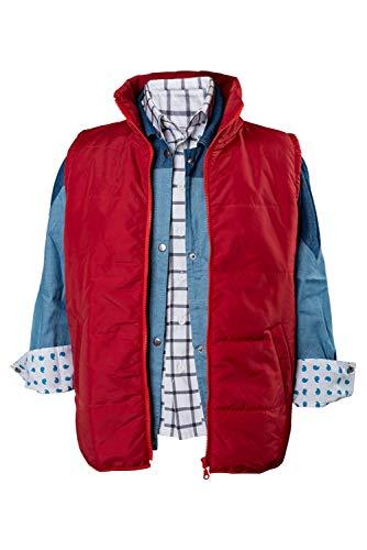 MingoTor Superheld Red Waistcoat Cosplay Kostüm Herren -