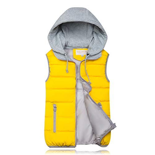 BOLANQ Plüschmantel Mantel, 10 Farben Mode Frauen Herbst Winter warme Mantel Weste wattierte Jacke(XXX-Large,Gelb)