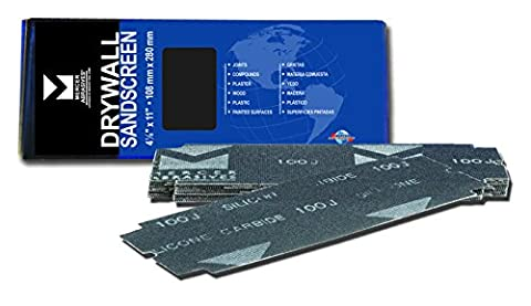 Mercer Industries 250220 220 Grit Drywall Sandscreen Sheets (25-Pack), 4-1/8