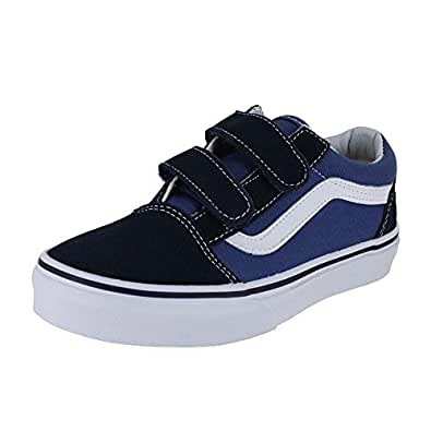 Vans Old Skool V, Sneakers Basses mixte enfant, Bleu (Navy/True White), 27 EU (UK child 10 Enfant UK)