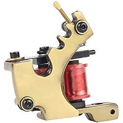 Rizador de pelo Tatuaje Ametralladora 10 Envuelve bobinas Hierro Fundido Bobina Tatuaje máquina Motor Gun 7-9 V Artistas del Tatuaje