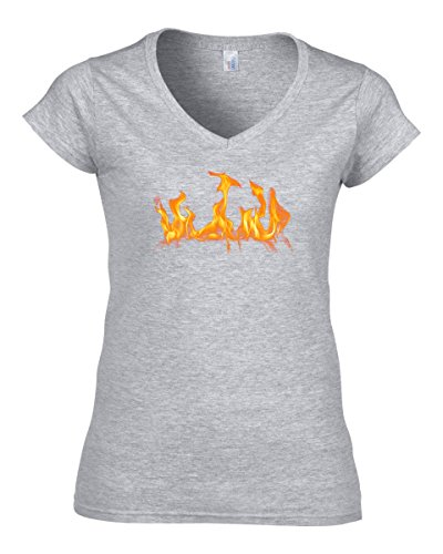 flame-hot-logo-womens-v-neck-t-shirt-large