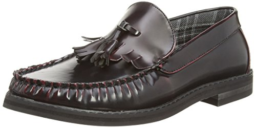 New Look 3345119, Mocassins Homme Rouge (67)