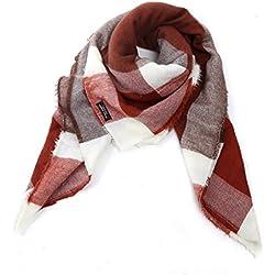 Sra. De la caída y la sección de invierno de los tres cuadros de color de la tela escocesa de la cachemira bufandas del mantón Hechizo ( Tamaño : 140*140cm )
