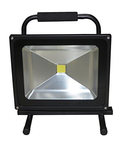 50W LED Fluter Arbeitsleuchte Mit Akku Kaltweiß Schwarz Dünn Baustrahler Handlampen Flutlicht Tragbar Wiederaufladbare IP65 50W Kaltweiß
