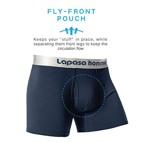 ... Herren Unterhosen Lapasa Herren Boxer Briefs, 4er Pack, eleganter  Tragekomfort mit gekämmter Baumwolle, Herren Unterhosen ...