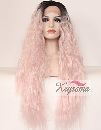 kryssmar-wavy-ombre-baby-pink-dark-roots-wigs-for-girls-long-synthetic-hair-lace-front-wigs-for-part