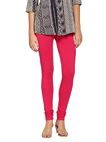 abof Ethnic Pink Regular Fit Churidar Leggings