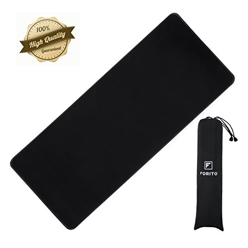 Preisvergleich Produktbild Large Gaming Mouse Pad, FORITO Extended Mousepad Gaming, Functional Non-slip Rubber Base with Stitched Edges with Portable Carrying Bag, Size 31.5 Inches x 11.8 Inches x 0.12 Inches (XL-Black) by FORITO