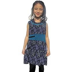 LITTLE KATHMANDU - Vestido - Floral - Sin mangas - para niña Morado morado 38
