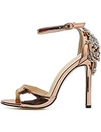 Sandalias Tacón Alto de Vestir para Mujer, QinMM Zapatos de Baño Chanclas Verano de Playa