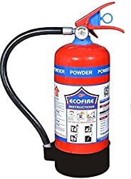 Eco Fire Dry Chemical Powder (DCP) Type 6 Kg Fire Extinguisher (Red and Black)