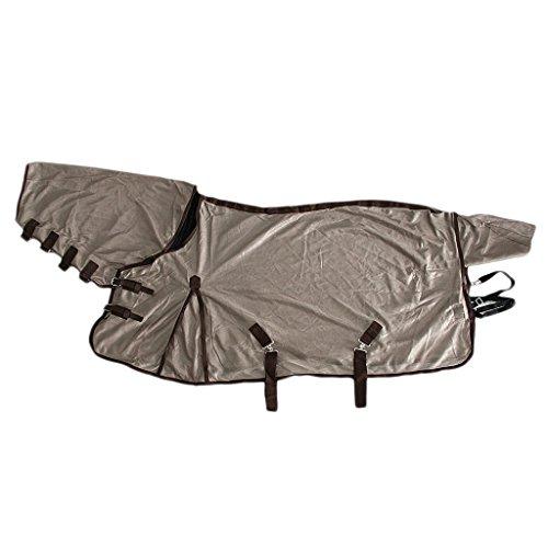 Tubayia Atmungsaktiv Fliegendecke Fliegenschutz Moskitoschutz Ausreitdecke für Pferd Zubehör (145cm)