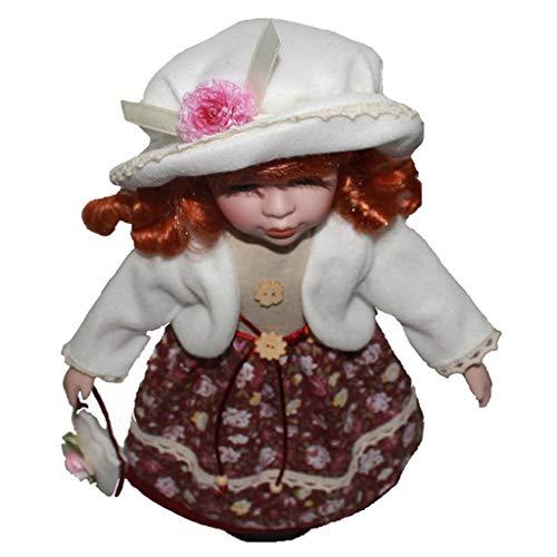 KESOTO Elegante Viktorianische Mädchen Porzellanpuppe Standpuppe aus Keramik - B - 16 Zoll (Viktorianische Puppe Kostüm)