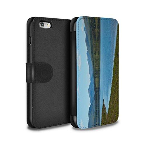 STUFF4 PU-Leder Hülle/Case/Tasche/Cover für Apple iPhone 6 / Wasserfall Muster / Schottisch Landschaft Kollektion Loch/Tal