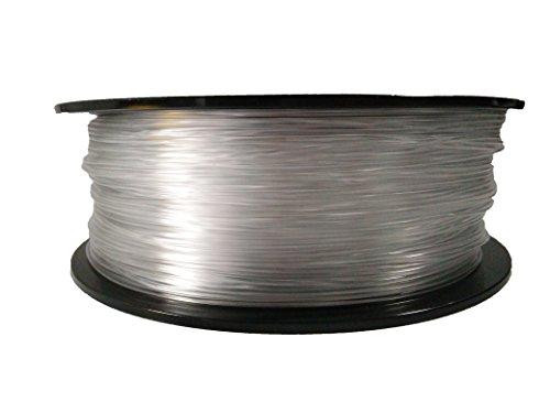 PETG 1.75mm Calidad superior Impresión fácil 3D transparente filamento (T-Glass) Reciclable 3D Pluma / Material de la impresora (5 metros) (Transparente)