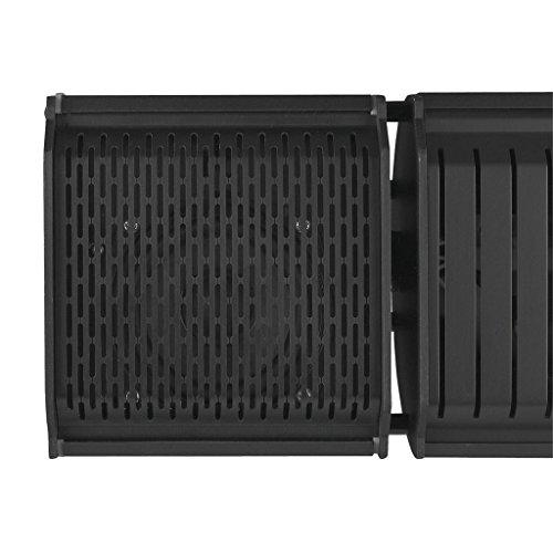 Heizstrahler mit Bluetooth Lautsprechern und farbigen Backlight (Schwarz) - 5