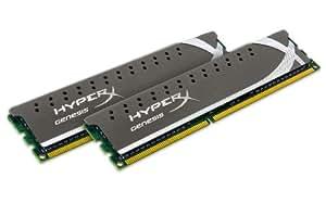 Kingston KHX1600C9D3X2K2/8GX Mémoire RAM DDR3 1600 8 Go KVR CL9 HyperX Kit2 Grey Series
