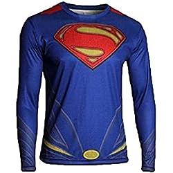 Samanthajane Clothing - Camiseta - para hombre Multicolor Man of Steel Long sleeve