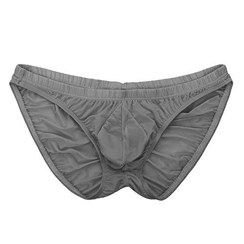 Summer Code Herren Sexy Unterhosen Bikini geraffte dehnbare Pantys Grau