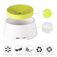 YAMI Dog Water Bowl, Pet No Spill Slow-Down Water Feeder, Anti-Dust Anti-Chocking 2-1 Water Food Bowl for Dog and Cat (1000ml)