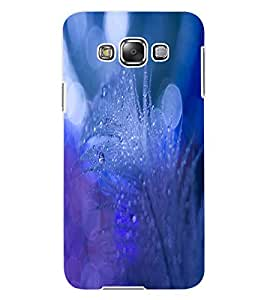 ColourCraft Lovely Feather Design Back Case Cover for SAMSUNG GALAXY E7