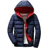 NPRADLA 2018 Mantel Herren Winter Slim Fit Jungen Casual Warm Mit Kapuze Winter Zipper Coat Outwear Jacke Top Bluse(L/38,Schwarz)