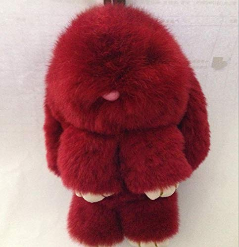 DWSM Bunny Nachahmung Kaninchenfell Gras Anhänger Weiblichen Beutel Hängende Ornamente Super Cute Girl Bag Anhänger Schlüsselanhänger 15Cm