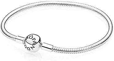 Pandora Women's 925 Sterling Silver Smooth Charm Bracelet - 590728-17