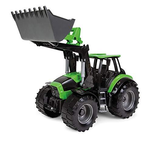 Lena 04603 - Worxx Traktor Modell Deutz-Fahr Agrotron 7250 TTV mit Frontlader, ca. 45 cm, Landwirtschaft Spielfahrzeug für Kinder ab 3 Jahre, robuster Trecker mit funktionstüchtiger Ladeschaufel