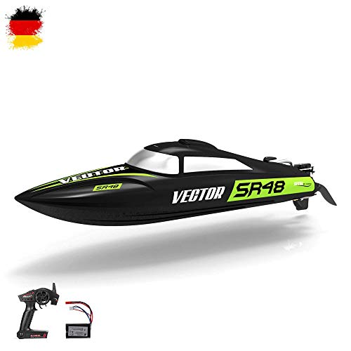 HSP Himoto Speedboot PRO v2 XL - RC ferngesteuertes Boot mit 2,4GHz digital vollproportional, Aufrichtfunktion, interne Kühlung, Rennboot-Modell mit Top-Speed bis zu 30km/h