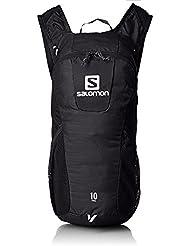 Salomon, Zaino Unisex per il running su strada e per l'escursionismo, 10 litri, 46 x 20 x 12 cm, TRAIL 10, Nero, L37997600