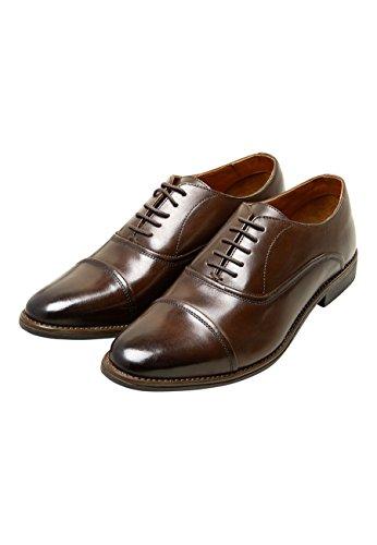 next Herren Oxford-Schuh mit Zehenkappe Braun EU 47 (Neugeborenen-braun-oxford)