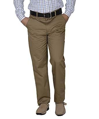 Crocks Club Beige Color Cotton Trouser For Men_42